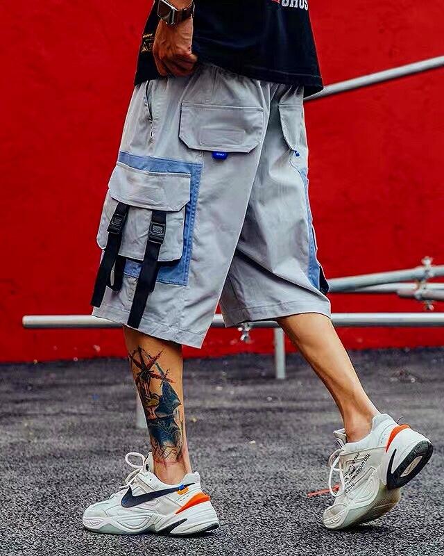 サイドベルトカーゴショートパンツ ハーフパンツ メンズの商品画像1